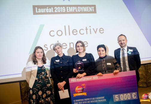photo de remise des prix du lauréat 2019