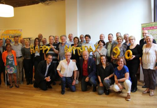 Photo de groupe des bénévoles du Réseau des Réussites de LADAPT