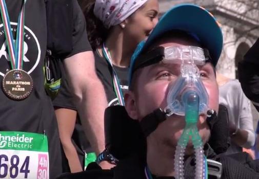 image de jb a la fin du marathon