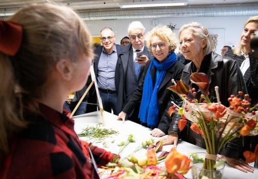 visite des deux ministres au CFA la Mouillère