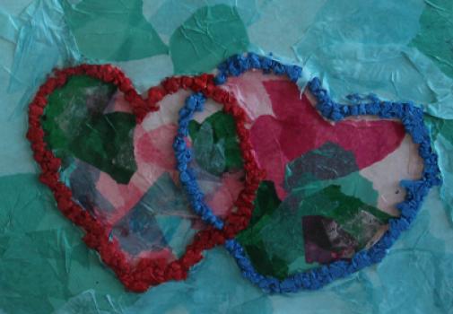 création avec des coeurs