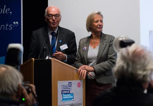 photo de sophie cluzel et emmanuel constans à la conférence d'ouverture
