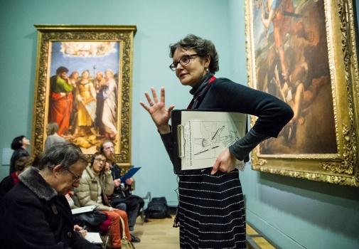 Visite public malvoyant © 2012 Musée du Louvre / Olivier Ouadah
