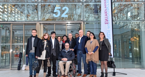 personnel de LADAPT Rhône - Métropole de Lyon pendant la seeph 2017