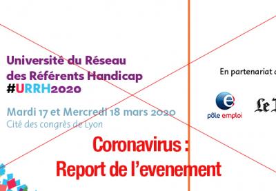 visuel de l'événement barré avec l'information suivante : coronavirus report de l'événément