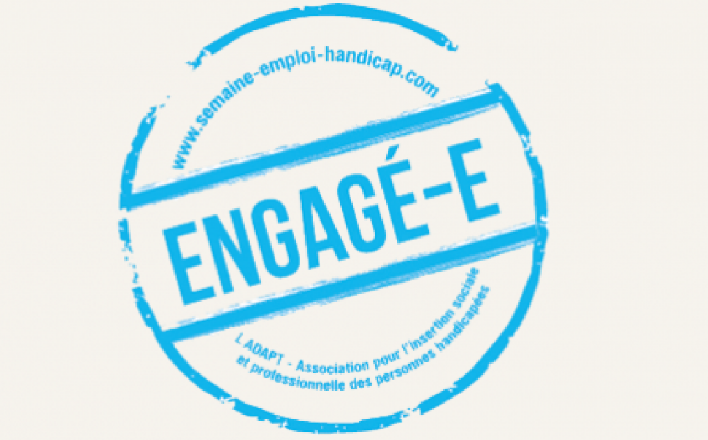 badge engage avec ladapt
