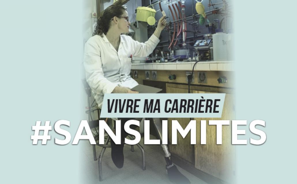 Lucie travaille dans son laboratoire.