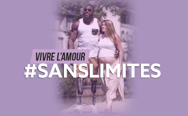 visuel de la campagne vivre l'amour sans limites représentant un couple heureux