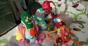 """phots des marionnettes """"les petits poux"""""""