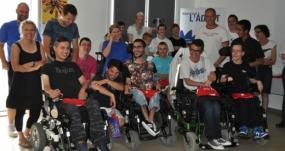 Photos de groupe des champions de France de Boccia/L'ADAPT NORD