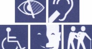Logo décrivant les différents types de handicap